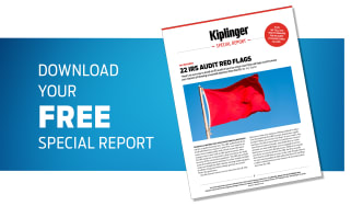 An image of Kiplinger's 22 Audit Red Flags Special Report