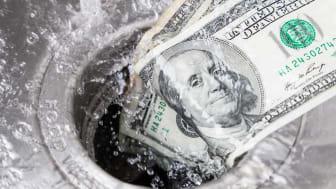 Money flows down the drain.