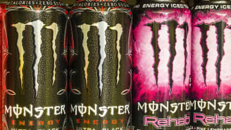 Indianapolis, US - August 10, 2016: Monster Beverage Display. Monster Corporation manufactures energy drinks including Monster Energy III