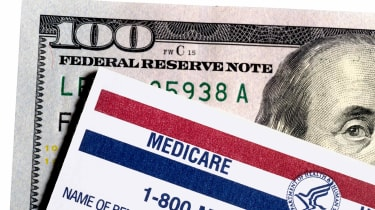 A Medicare card and money.