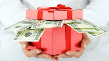 picture of a box of cash given as a gift