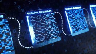 Blockchain concept art