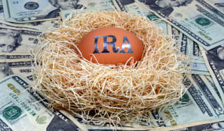 picture of egg with IRA written on it in a bird's nest