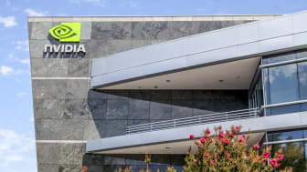 Santa Clara, USA - July 16, 2014: Corporate headquarters of Nvidia, a global technology company based in Santa Clara, California. Nvidia manufactures graphics processing units for computers a