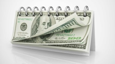 A calendar consists of $100 bills.