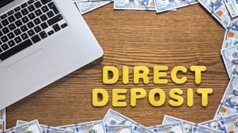 """picture of letters spelling out """"direct deposit"""""""