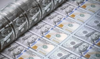 Printing press printing U.S. dollars