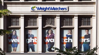 New York City, USA - June 17, 2013: The facade of the Weight Watchers Store in Chelsea on 23rd Street. Weight Watchers International, founded in 1963 by Jean Nidetch and based in the US, is t