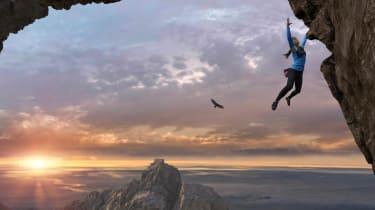 photo of free climber
