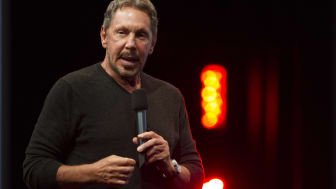 SAN FRANCISCO, CA - SEPTEMBER 28:Oracle Executive Chairman of the Board and Chief Technology Officer, Larry Ellison, delivers a keynote address during the 2014 Oracle Open World conference on