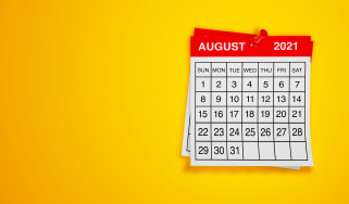 picture of an August 2021 calendar