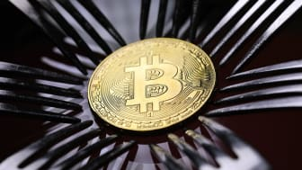 LONDON, ENGLAND - DECEMBER 07:A visual representation of the digital Cryptocurrency, Bitcoin on December 07, 2017 in London, England. Cryptocurrencies including Bitcoin, Ethereum, and Lightco