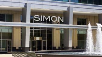 A Simon sign on the facade of a Simon Property Group mall
