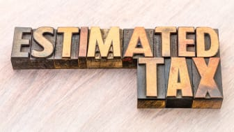 """picture of lettered blocks spelling out """"Estimated Tax"""""""