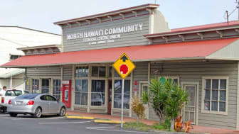 Honokaa, United States - February 15, 2012:This restored North Hawai'iCommunity Credit Union building is on the main street in Honokaa. As the gateway to the H?m?kua Coast, Honokaa provides t