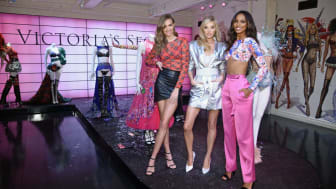 NEW YORK, NY - NOVEMBER 29:(L-R) Josephine Skriver, Elsa Hosk and Jasmine Tookes attend as VS Angels celebrate the Victoria's Secret Fashion Show airing December 2 (10/9c) on the ABC Televisi