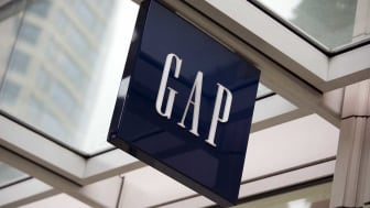 Seattle, Washington, USA - May 27, 2012:The logo and word mark of Gap, mounted above the entrance to the store in downtown Seattle.