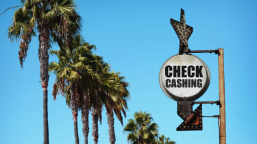 picture of checking cashing business sign