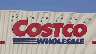Warrenton, Oregon, USA - September 19, 2011: Costco store sign in Warrenton, Oregon in the late afternoon. Costco runs a chain of stores, selling all types of products from food and clothes t