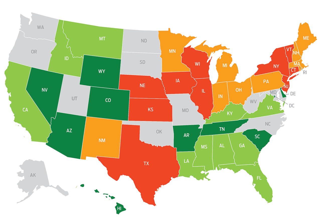 Kiplinger Tax Map