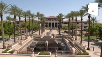 A plaza in downtown Peoria, Ariz.