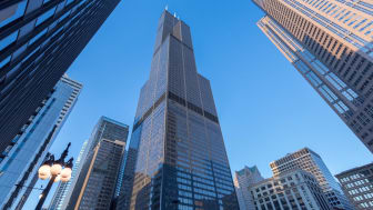 CHICAGO, IL - FEBRUARY 26:View of Willis Tower on February 26, 2018 in Chicago, Illinois.(Photo by Jeff Schear/Getty Images for Equity Office)