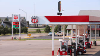 Goodland, United States - June 25, 2013: People fill their tanks at Phillips 66 gas station on June 25, 2013 in Goodland, Kansas. Phillips 66 had revenue of US$ 166 billion in 2012. It employ