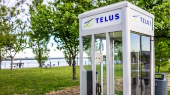 An old Telus phone booth