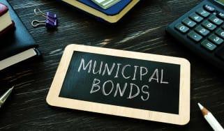 municipal bonds written on small blackboard