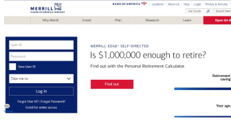 Screenshot of Merrill Edge home page