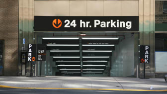 picture of a parking garage entrance