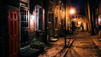 A dark alley in Central Philadelphia