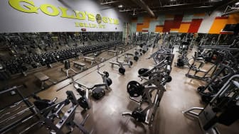 WEST ISLIP, NEW YORK - MAY 13:The Weight Room remains empty at Gold's Gym Islip on May 13, 2020 in West Islip, New York.The gym has been closed since New York Governor Andrew Cuomo had the gy