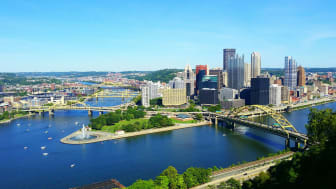 A view of downtown Pittsburgh, Pa.