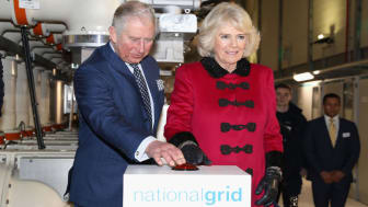 LONDON, ENGLAND - FEBRUARY 07:Prince Charles, Prince of Wales and Camilla, Duchess of Cornwall officially open the London Power Tunnels Project at Seven Sisters Road on February 7, 2018 in Lo
