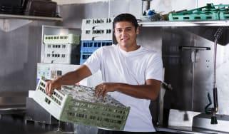 picture of restaurant dishwasher