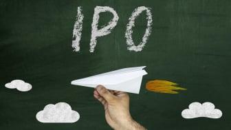 A chalkboard with IPO written on it
