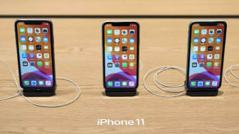 TOKYO, JAPAN - SEPTEMBER 20: Apple Inc.'s iPhone 11 smartphones are displayed in the Apple Marunouchi store on September 20, 2019 in Tokyo, Japan. Apple launched the latest iPhone 11 models f