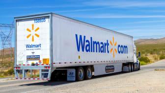 A Walmart truck