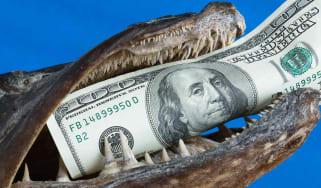 A monster eats money.