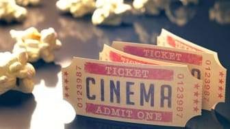 A stack of old movie theater tickets