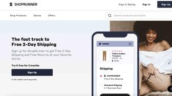 Screenshot of Shopprunner.com home page