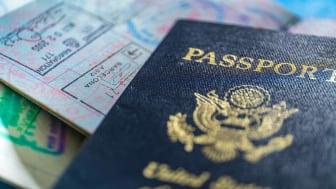 Close-up of American passport