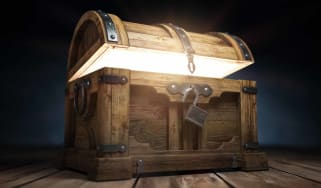 glowing treasure chest