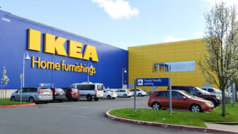 Exterior of a IKEA home furnishings store