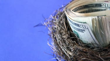 Nest Egg with cash
