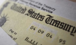 picture of a U.S. government check