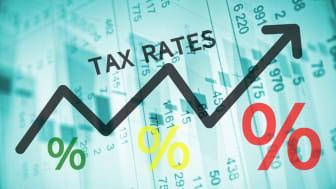 picture of tax rate arrow chart showing upward trend