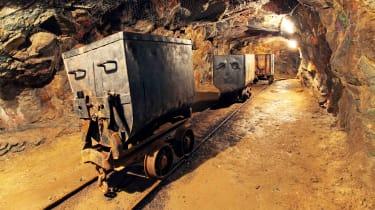 A mine cart