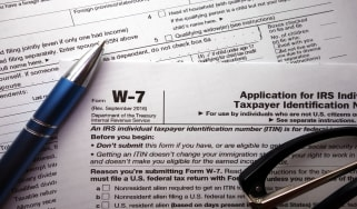 picture of IRS form w-7